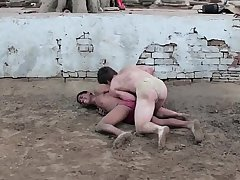 Wrestling in the sand